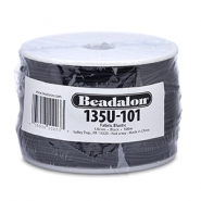 Beadalon filo infilaperle elastico diametro 1,0 mm nero