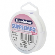 Beadalon filo infilaperle Supplemax Ultra diametro 0,25 mm 25 metri bianco