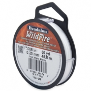 Beadalon filo Wildfire diametro 0,20 mm bianco gelo