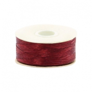Beadalon filo Nymo diametro 0,3 mm rosso marrone