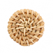 Pendente in rattan 30 mm rotondo marrone naturale