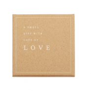 Confezione regalo 'a small gift with lots of LOVE' marrone