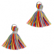 Nappine 1.5cm argento-multicolore